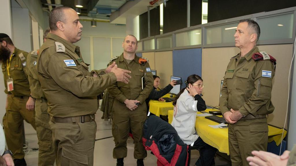 Chief of Staff Kochavi, right, briefed on IDF preparedness for coronavirus crisis responsibilities  ()