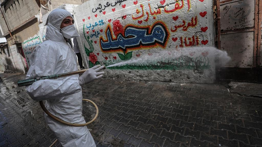 Streets being disinfected in Gaza   ()