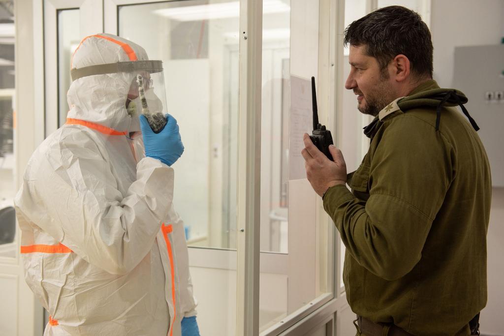 A special IDF coronavirus testing center  ()