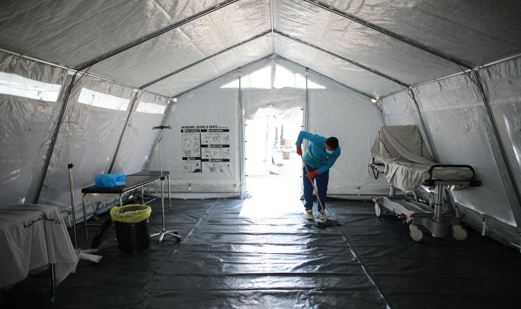 Makeshift hospital in Gaza meant for coronavirus patients  ()