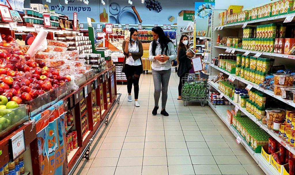 קניות בסופר באשקלון (צילום: רועי עידן)