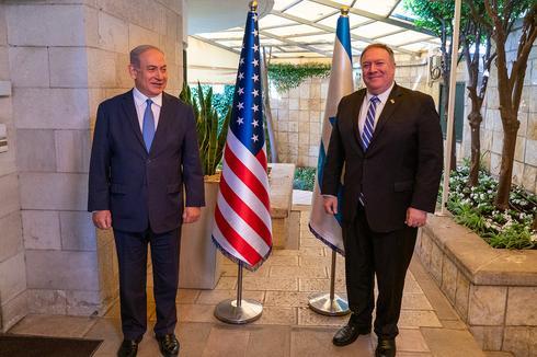 Benjamin Netanyahu and Mike Pompeo meeting in Jerusalem last week  ()
