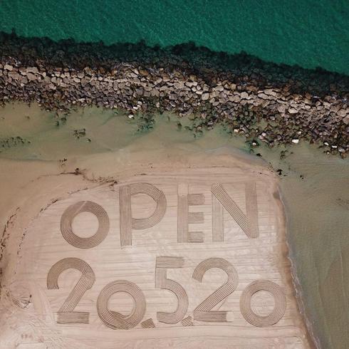 Пляж Дадо в Хайфе. Фото: пресс-служба мэрии Хайфы ()
