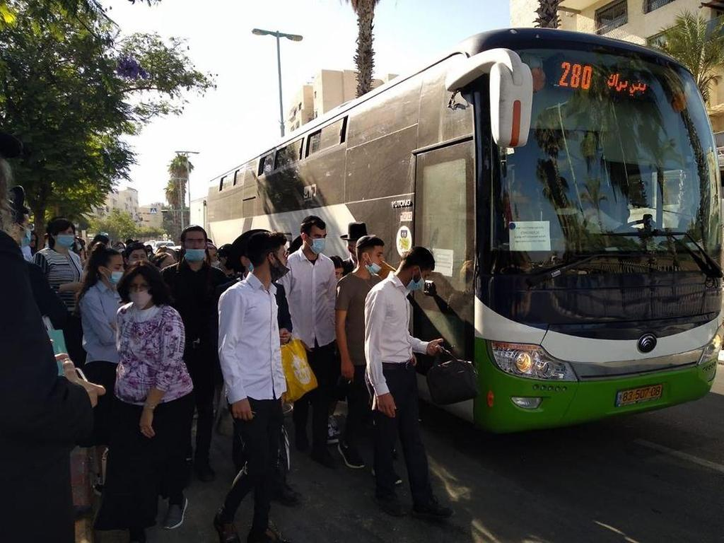 עומסים בתחבורה הציבורית באלעד ()