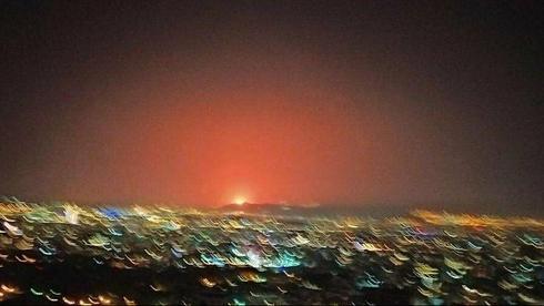 Зарево после другого таинственного взрыва в Тегеране ()