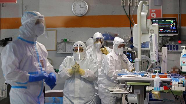 Отделение коронавируса в больнице