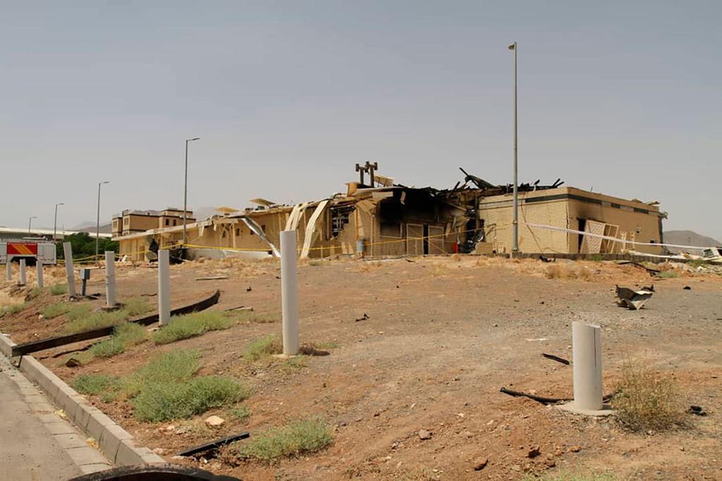שריפה מבנה מתקן גרעיני נתנז איראן (צילום: AP)