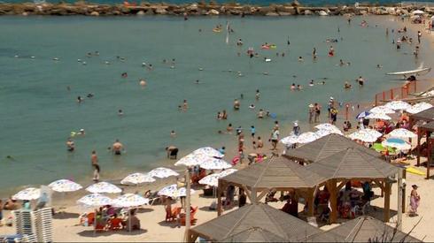 חוף הילטון בתל אביב  (צילום: חגי דקל)