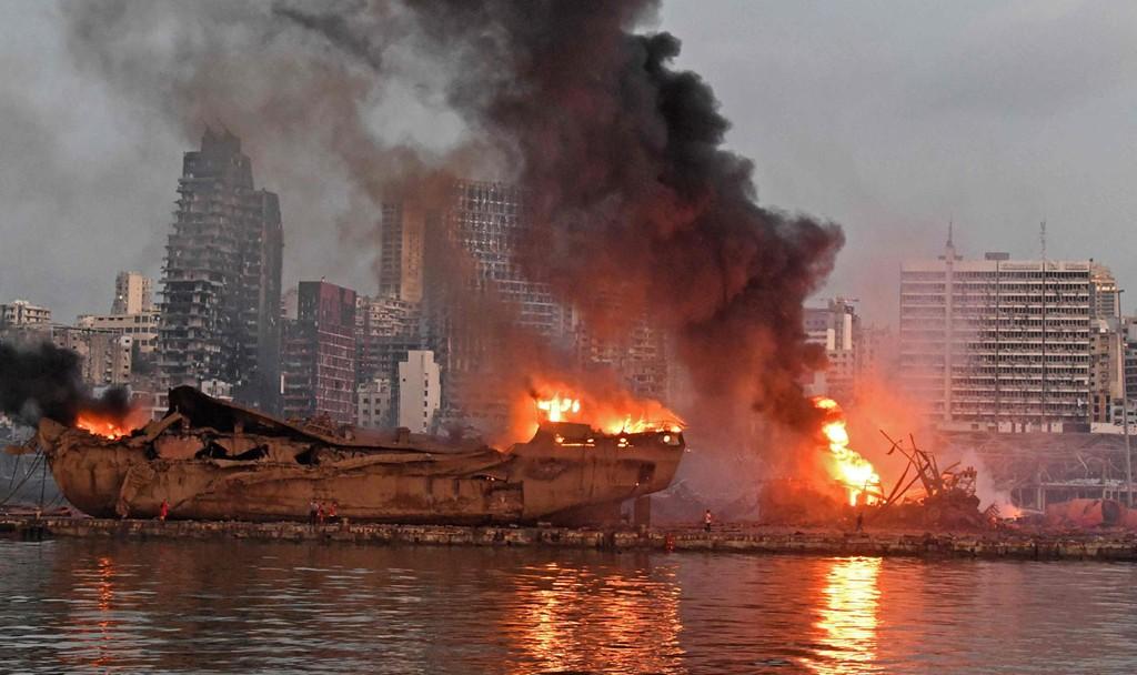האסון בלבנון (צילום: AFP)