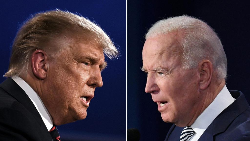 ג'ו ביידן ודונלד טראמפ. ייגמר בבית המשפט? (צילום: AFP)