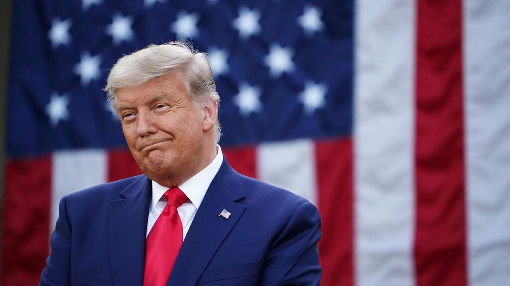 נאום טראמפ על מצב הקורונה בארצות הברית (צילום: AFP)