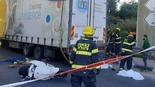 רוכב אופנוע נהרג מפגיעת משאית ליד מחלף עירון